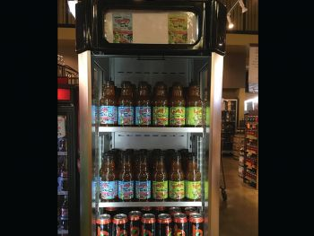 Alexander's Highland Market in Baton Rouge, Louisiana wit sum CajunTyme Ice Tea competing wit da monsters up front in dat cooler at dos registers!