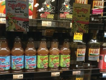 Alexander's Highland Market in Baton Rouge, Louisiana wit sum CajunTyme Ice Tea in da back coolers competing wit da big boys!